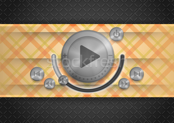 Stock photo: Abstract Technology App Icon With Music Button