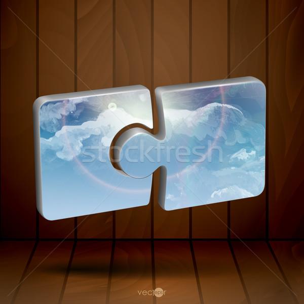 Modern puzzle sablon eps 10 nap Stock fotó © HelenStock