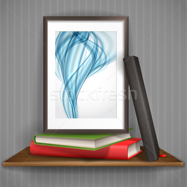 Wood Shelf With Photo Frame. Stock photo © HelenStock