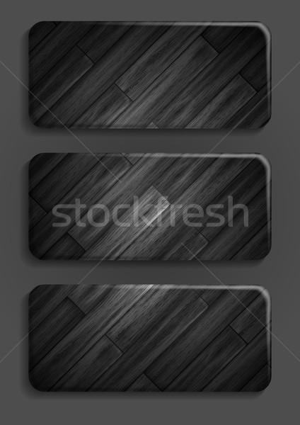 Wooden texture banner. Stock photo © HelenStock