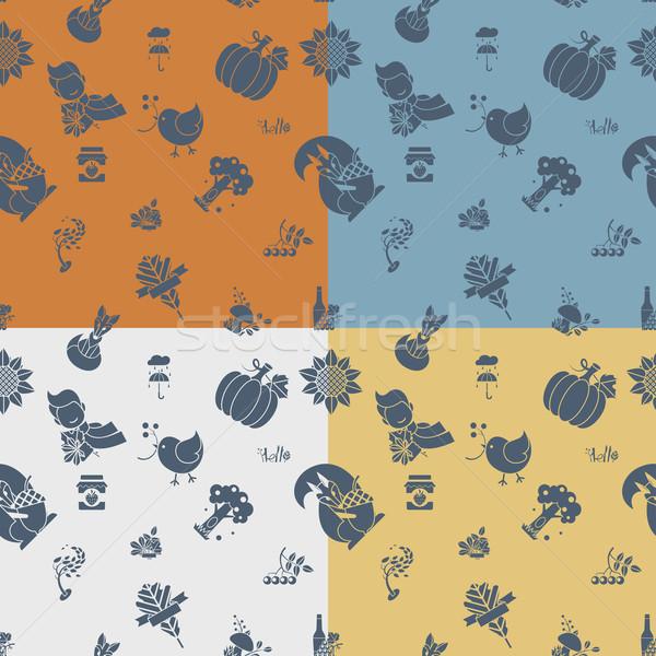 Herbst vier unterschiedlich Farben Vektor Stock foto © HelenStock