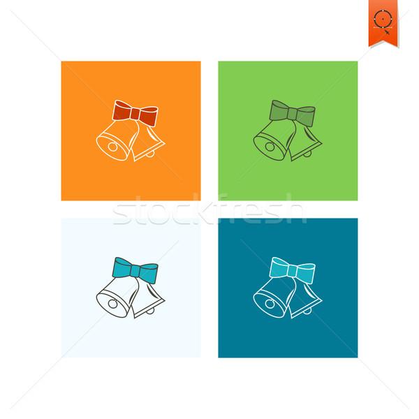Natal colorido vetor feliz laranja verde Foto stock © HelenStock