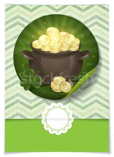 St. Patrick's Day. Pot Of Gold. Stock photo © HelenStock