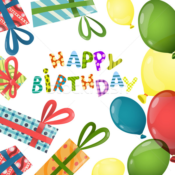 カラフル 歳の誕生日 eps 10 紙 パーティ ストックフォト © HelenStock