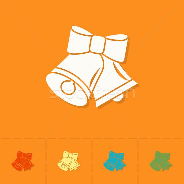 Noël coloré vecteur heureux design hiver Photo stock © HelenStock