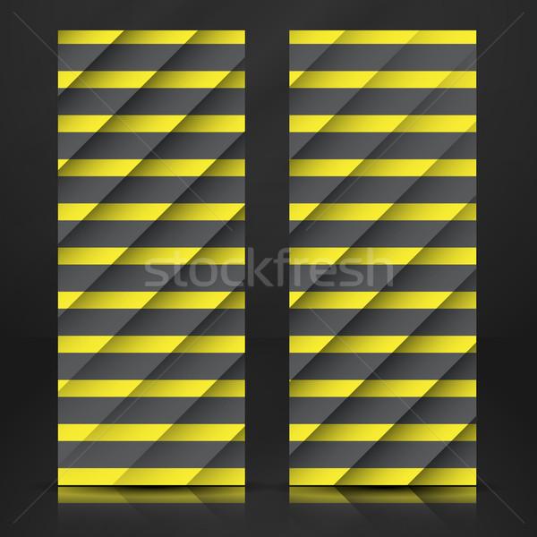Siyah sarı çizgili eps 10 iş Stok fotoğraf © HelenStock