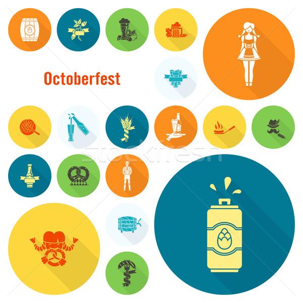 Foto d'archivio: Oktoberfest · birra · festival · lungo · ombra · design
