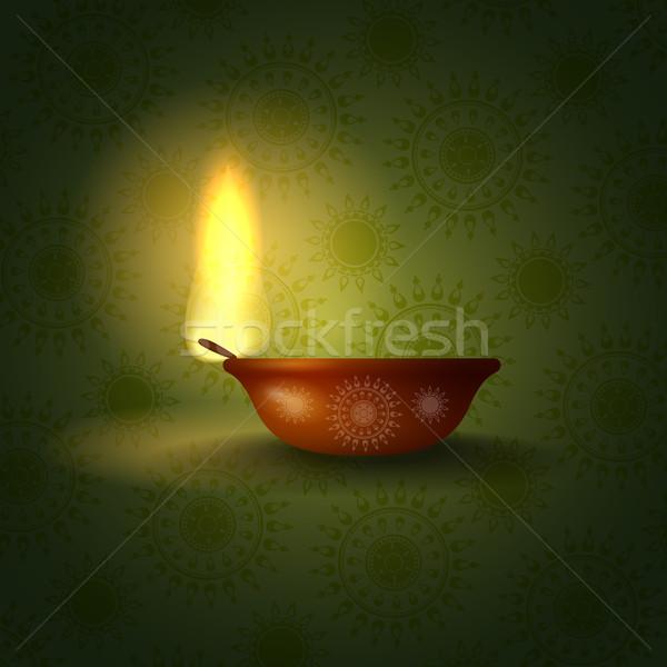 Boldog diwali fesztivál eps 10 terv Stock fotó © HelenStock
