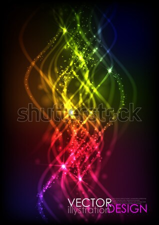 Abstract Neon Waves. Stock photo © HelenStock