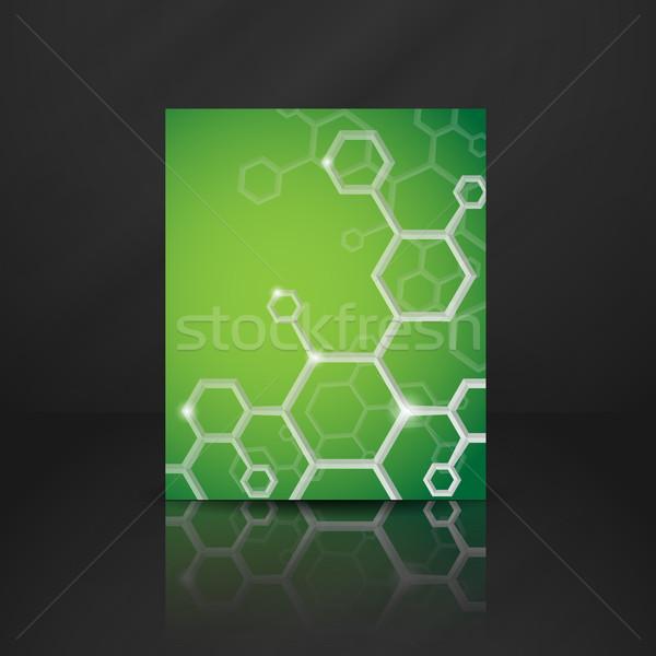 Molecule Abstract Background. Stock photo © HelenStock