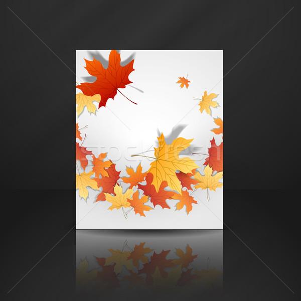 紅葉 eps 10 テクスチャ 抽象的な デザイン ストックフォト © HelenStock