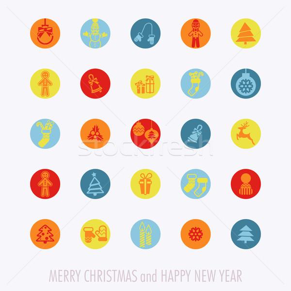 Christmas Icons Set Stock photo © HelenStock