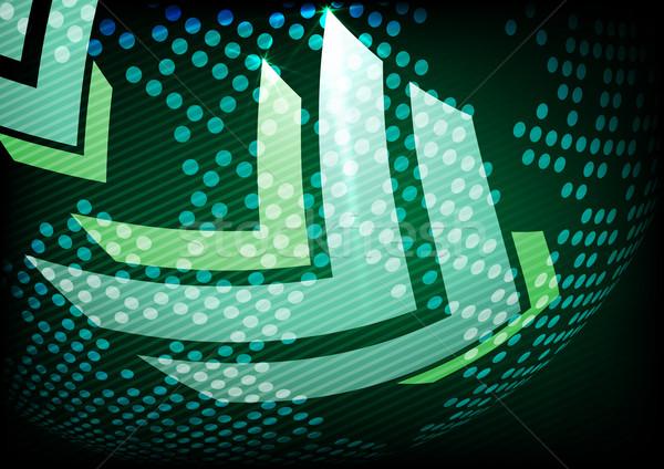 Stock fotó: Nyíl · zöld · hely · szöveg · eps · 10