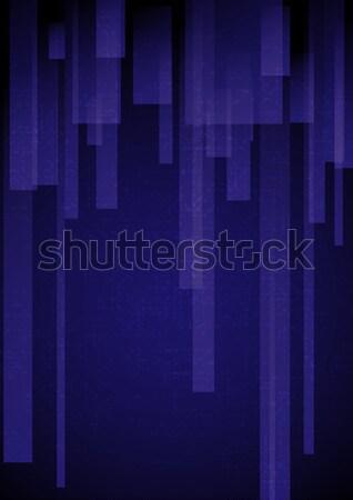Absztrakt kék téglalap formák eps 10 Stock fotó © HelenStock