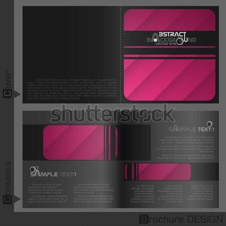 Broşür şablon Dizayn Eps 10 Arka Plan Vektör