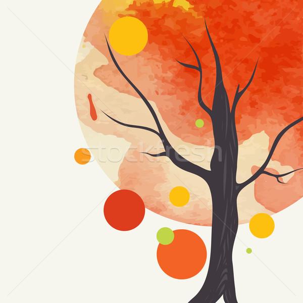 Creative Autumn Background Stock photo © HelenStock