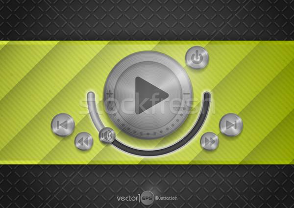 Résumé technologie app icône musique bouton Photo stock © HelenStock