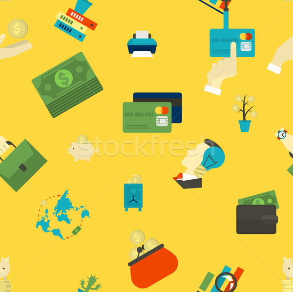 Business and Finance Seamless Pattern Stock photo © HelenStock