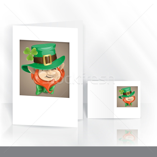 St Patrick's Day Leprechaun Face. Stock photo © HelenStock