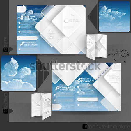 брошюра шаблон дизайна прибыль на акцию 10 аннотация Сток-фото © HelenStock
