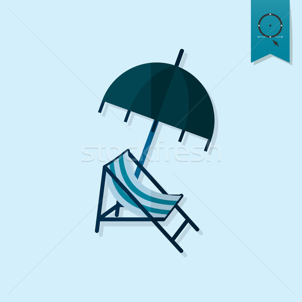 Summer and Beach Simple Flat Icon Stock photo © HelenStock