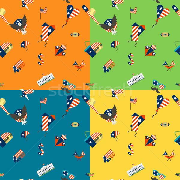 Dia Estados Unidos quatro diferente cores Foto stock © HelenStock