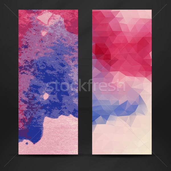 Colorido abstrato bandeira eps 10 negócio Foto stock © HelenStock