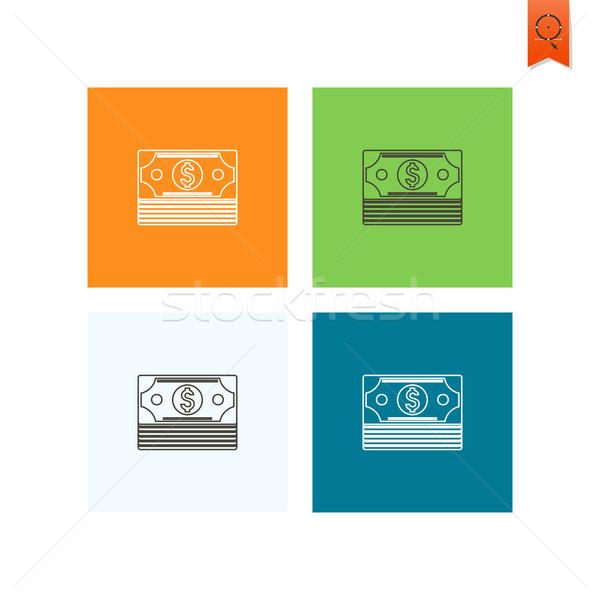 Ceny działalności finansów ikona proste Zdjęcia stock © HelenStock
