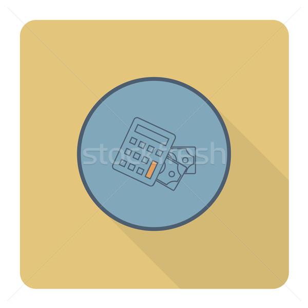 Számológép pénz üzlet pénzügy ikon egyszerű Stock fotó © HelenStock