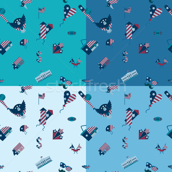 Tag Vereinigte Staaten vier unterschiedlich Farben Stock foto © HelenStock