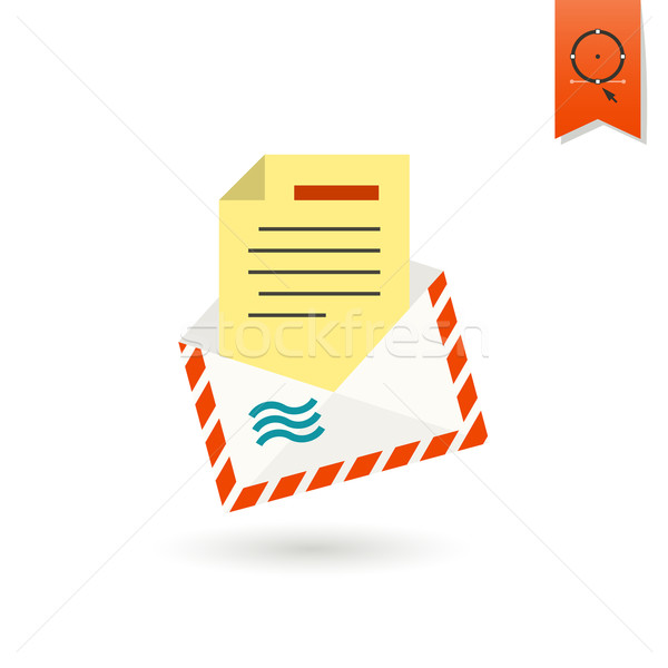 Christmas Envelope. Colorful Stock photo © HelenStock