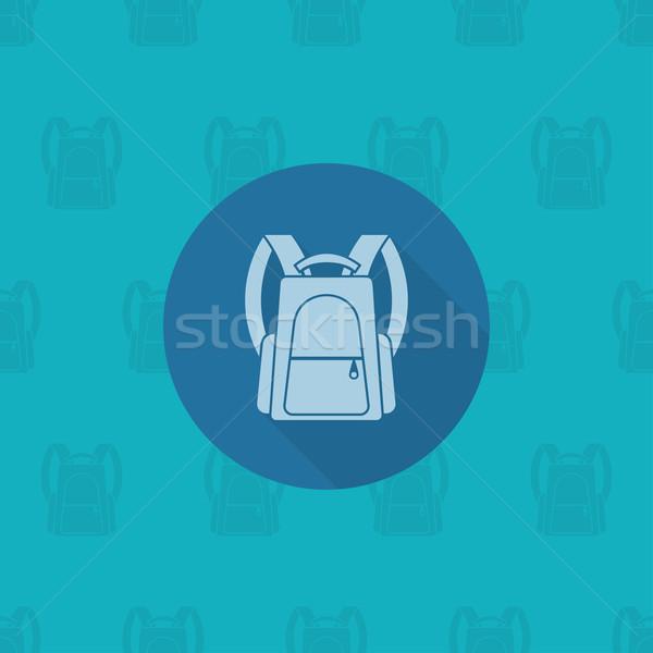 Escolas educação ícones ícone mochila projeto Foto stock © HelenStock