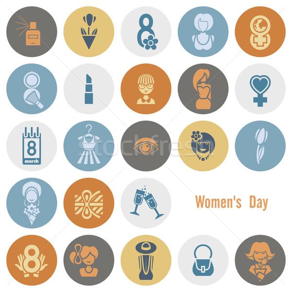 Womans Day Icon Set Stock photo © HelenStock