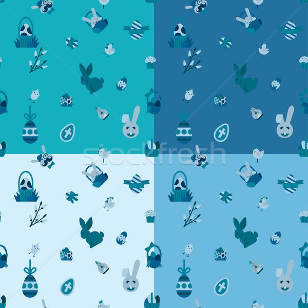 Pascua cuatro diferente colores vector Foto stock © HelenStock