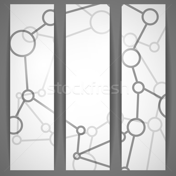 Molecule Abstract Banner. Stock photo © HelenStock