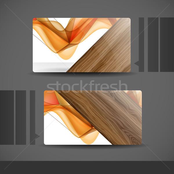 名刺 デザイン eps 10 抽象的な オレンジ ストックフォト © HelenStock