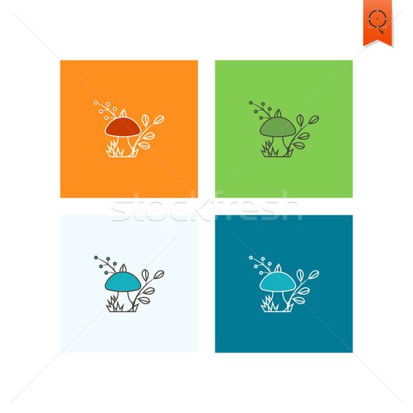Setas otono icono simple estilo Foto stock © HelenStock