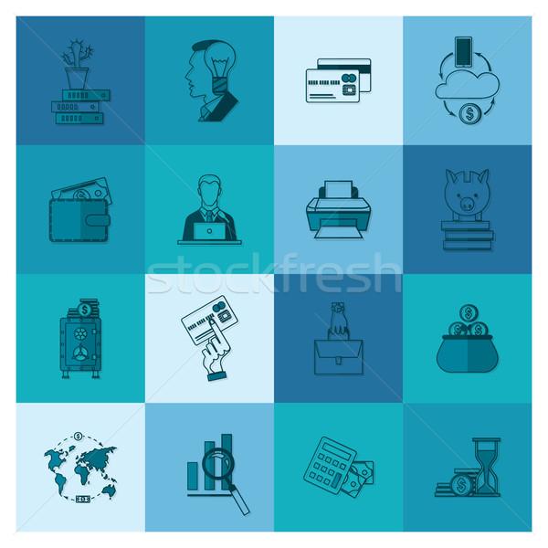 ビジネス 金融 単純な スタイル ストックフォト © HelenStock