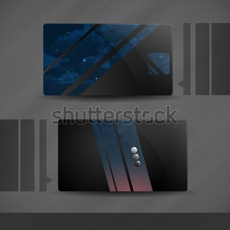 Visitekaartje ontwerp eps 10 business mode Stockfoto © HelenStock