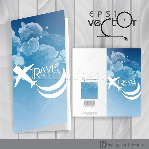 グリーティングカード デザインテンプレート eps 10 抽象的な 塗料 ストックフォト © HelenStock