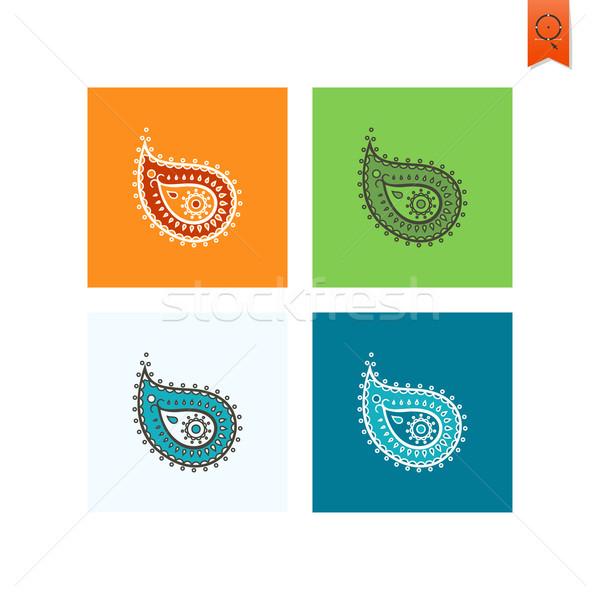 Diwali indian festival icona semplice Foto d'archivio © HelenStock