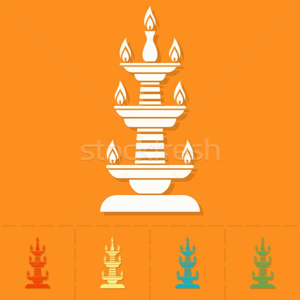 Diwali. Indian Festival Icon Stock photo © HelenStock
