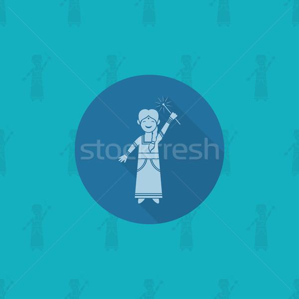 排燈節 印度 節日 圖標 簡單 商業照片 © HelenStock