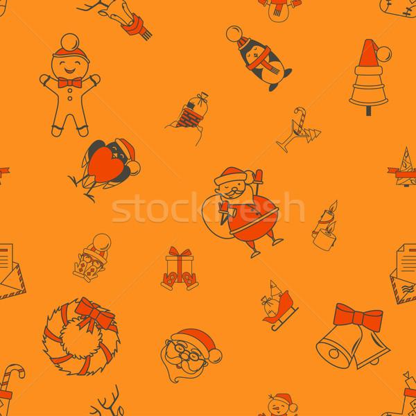 Christmas kolorowy proste stylu Zdjęcia stock © HelenStock