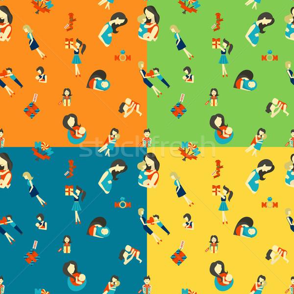 Madri giorno quattro diverso colori Foto d'archivio © HelenStock