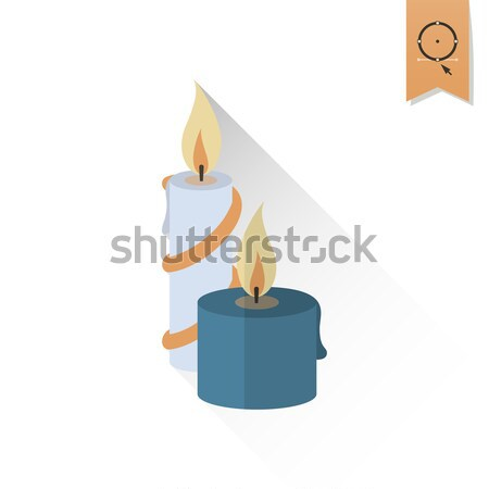 Natal velas monocromático cor vetor fogo Foto stock © HelenStock