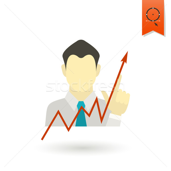 Business Graph with Hand Pointing Up Stock photo © HelenStock