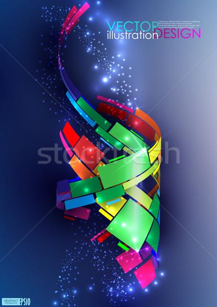 Abstract kleurrijk eps 10 business kantoor Stockfoto © HelenStock