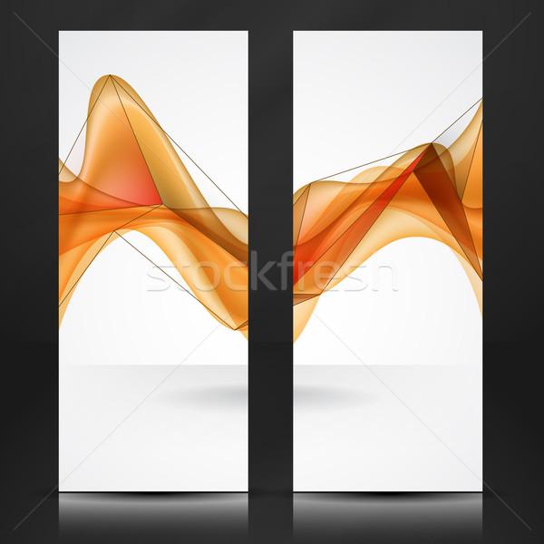 Streszczenie pomarańczowy fale eps 10 tekstury Zdjęcia stock © HelenStock