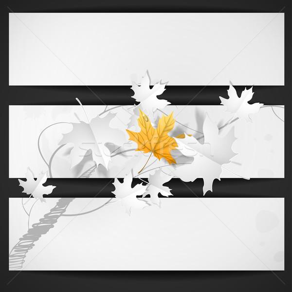 Autumn Leaves Background Stock photo © HelenStock